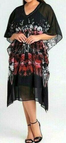 22 Martina Kaftan slip dress floaty NWT rrp$190! TS TAKING SHAPE plus sz L