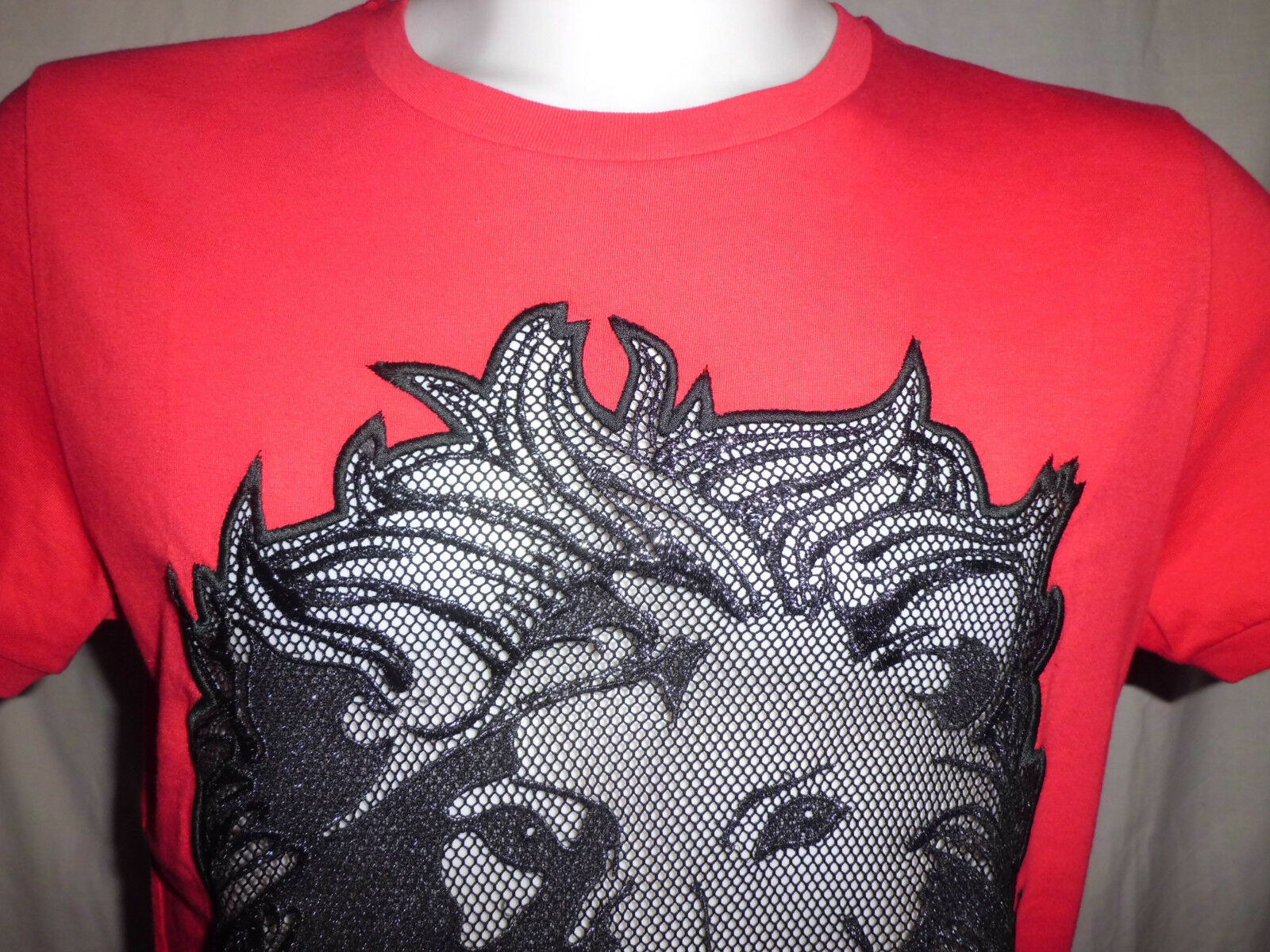 Versace Versus Versus Versus  T- Shirt  Uomo Uomo Cotone Lion rosso  Dimensione  L dbbe8e