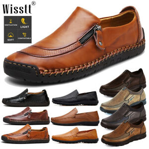 men's leather casual driving moccasins shoes large size