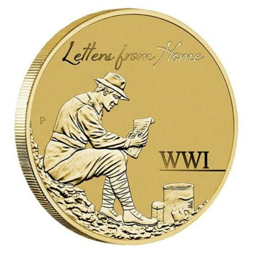 Australia 2016 WWI Letters From Home $1 One Dollar UNC Coin Perth Mint