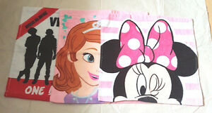 Children Assorted Various Character  Flannel / Wash Cloth 1D Minnie Sofia New