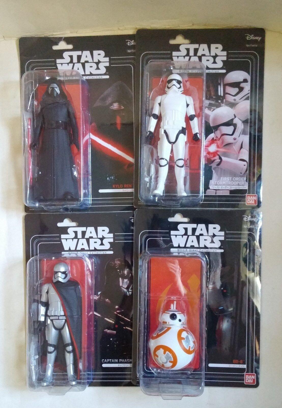 Bandai Star Wars Movie Vinyl Collection KYLO REN STORMTROOPER CAPTAIN PHASMA BB8