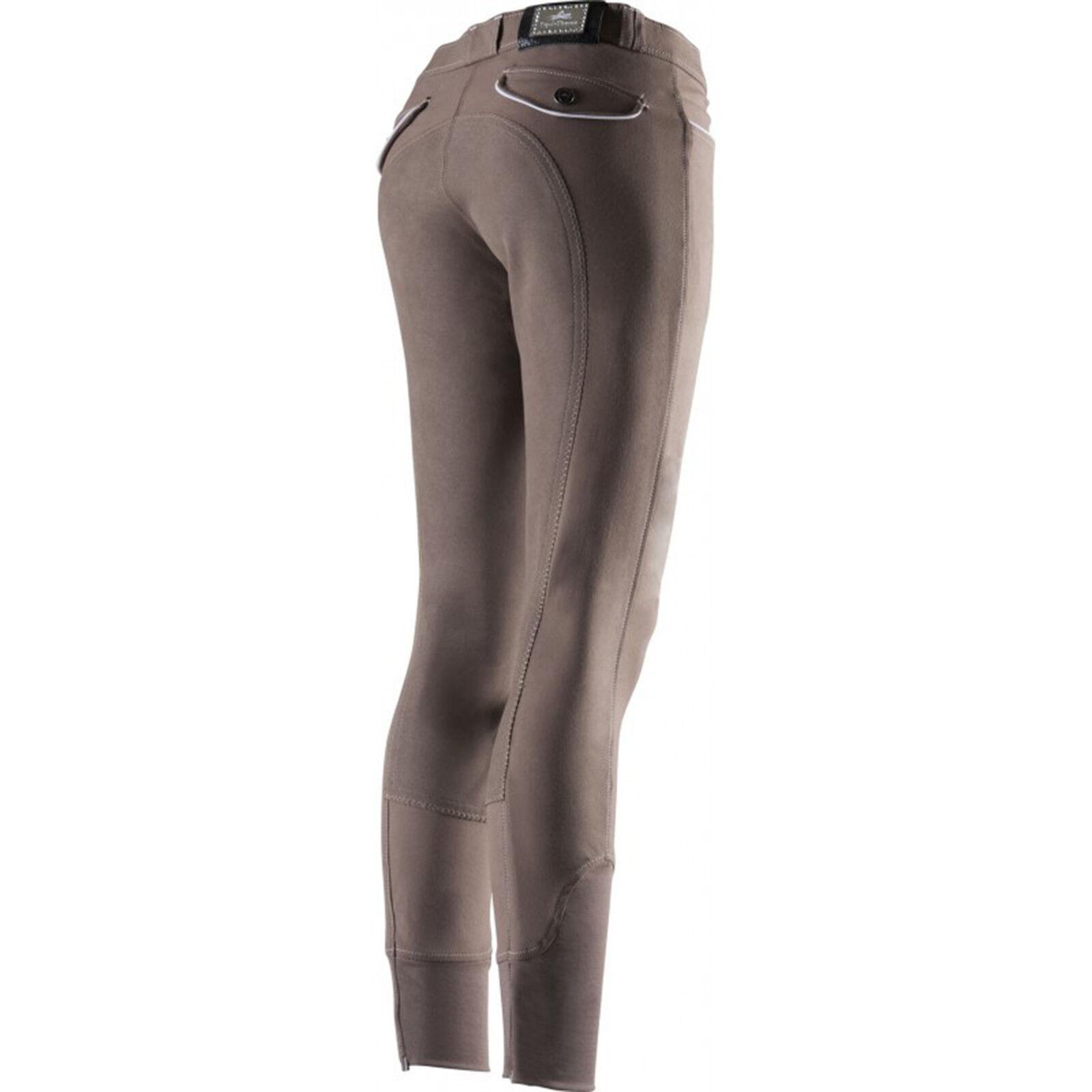 Equi Theme Uomo Pantaloni Montala Verona guarnizione in pieno TAUPE BEIGE