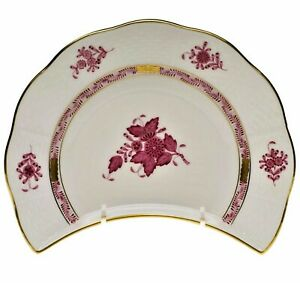 Herend Set Of 7 Chinese Bouquet Raspberry Crescent Salad Plates 135 Each Nwt Ebay