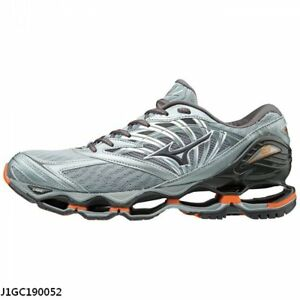 Mizuno Wave Prophecy 8 Silver Grey Black Men Running Shoes ... 35afed093e92