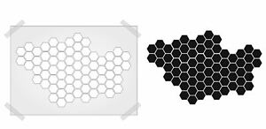 HONEYCOMB Stencil VINTAGE SHABBY CHIC template PLASTIC CARD/WALL  ART