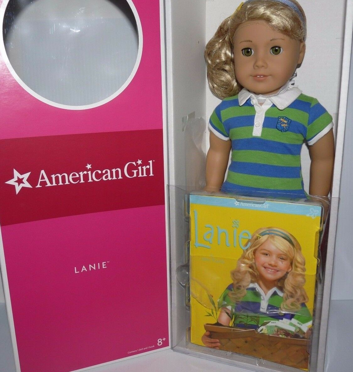 American Girl Doll Lanie Holland and Paperback Book NEW   Blonde Hazel Eyes