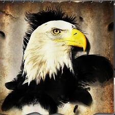 Bald Eagle Head Bird of Prey Bathroom Shower Curtain 180cm x 180cm Polyester