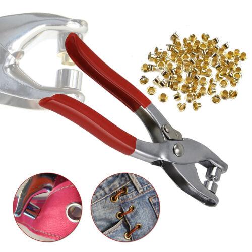 4mm 100pcs Oro Occhielli Con Pinza Strumento Riparazione Fai da Te Cucire Abbigliamento Borse Craft