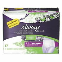 Always Discreet Incontinence Underwear, Large, Maximum Absorbency, - Pgc92736pk on sale