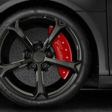 Red Caliper Covers Set Of 4 For 2021 Escalade Withcadillac Cursive By Mgp