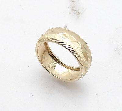 Polished Flexible Three Row Band Ring Real 14K Yellow Gold Szs 5 6 7 8 9 QVC