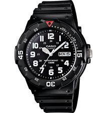 Casio MRW200H-1BV, Analog Watch, Black Resin Band, Day/Date, 100 Meter WR