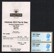 POP UP SHOP CROYDON 2ND CLASS  'WESTPICK' ERROR RECEIPT A3 Ma13 ADGB13 POST & GO
