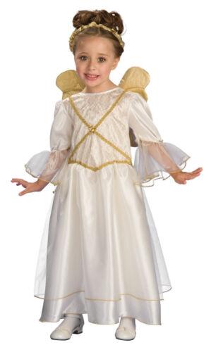 Ivory Angel White Christmas Guardian Fancy Dress Up Halloween Child Costume
