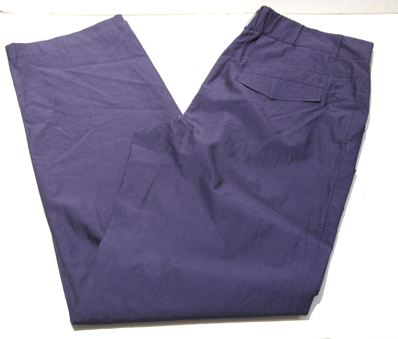 NWT Brunello Cucinelli Cotton Silk Navy bluee Pants  sz 10 FS