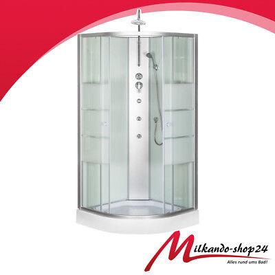 Duschtempel Fertigdusche Duschkabine Glass Komplett Dusche Wanne 90 X 90 Weiss