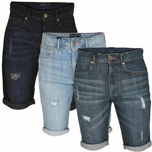 b7fe201e22 Dettagli su Da Uomo alza Strappato Pantaloncini Di Jeans Smith & Jones SLIM  FIT STRETCH 5 tasche- mostra il titolo originale