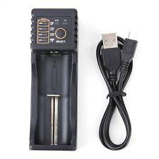Dual Battery Charger USB For 18650 18350 14500 17670 10440 Li-Ion Ni MH LiFePO4