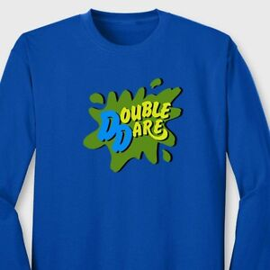 92aca15484 DOUBLE DARE Funny T-shirt Nickelodeon Family Team Work Long Sleeve ...