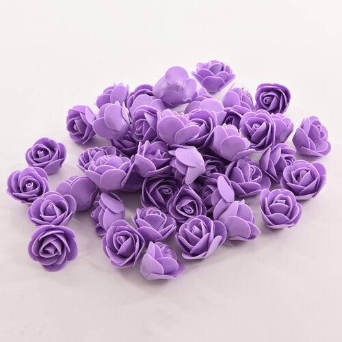 50 farbechte Schaum Rosen künstliche Blume Hochzeit Braut Bouquet Party Deco ZF