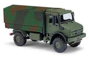 Busch-51021-Mercedes-Unimog-u5023-camastro-lona-tarnlackiert-1-87-h0-nuevo-en-el-embalaje-original