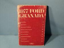 77 1977 Ford Granada owners manual