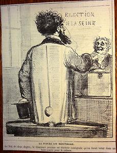 CHAM-Lithographie-Le-Charivari-Caricature-XIXe-Loi-electorale