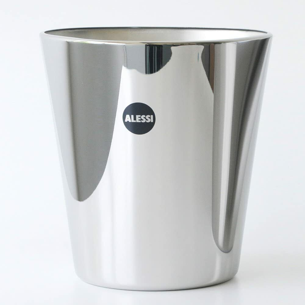 Silver 4 x 29.5 x 21.5 cm Set of Two Alessi Containers in 18//10 Stainless Steel