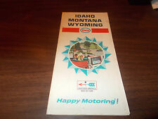 1968 Enco Idaho/Montana/Wyoming Vintage Road Map