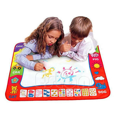 Children Toys Water Drawing Writing Painting Mat Board 2 Magic Pens Doodle Games