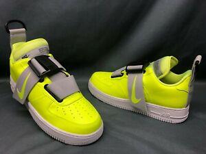 Dettagli su Nike Men's Air Force 1 Utility Fashion Sneakers Volt White Black Size 10.5 NEW!