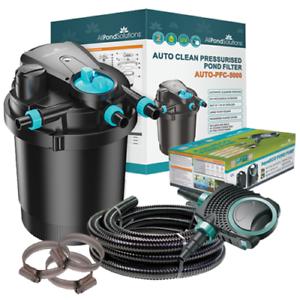 Auto-Cleaning-Pressurised-Koi-Pond-Filter-UV-Steriliser-All-in-One-Kit-Ponds