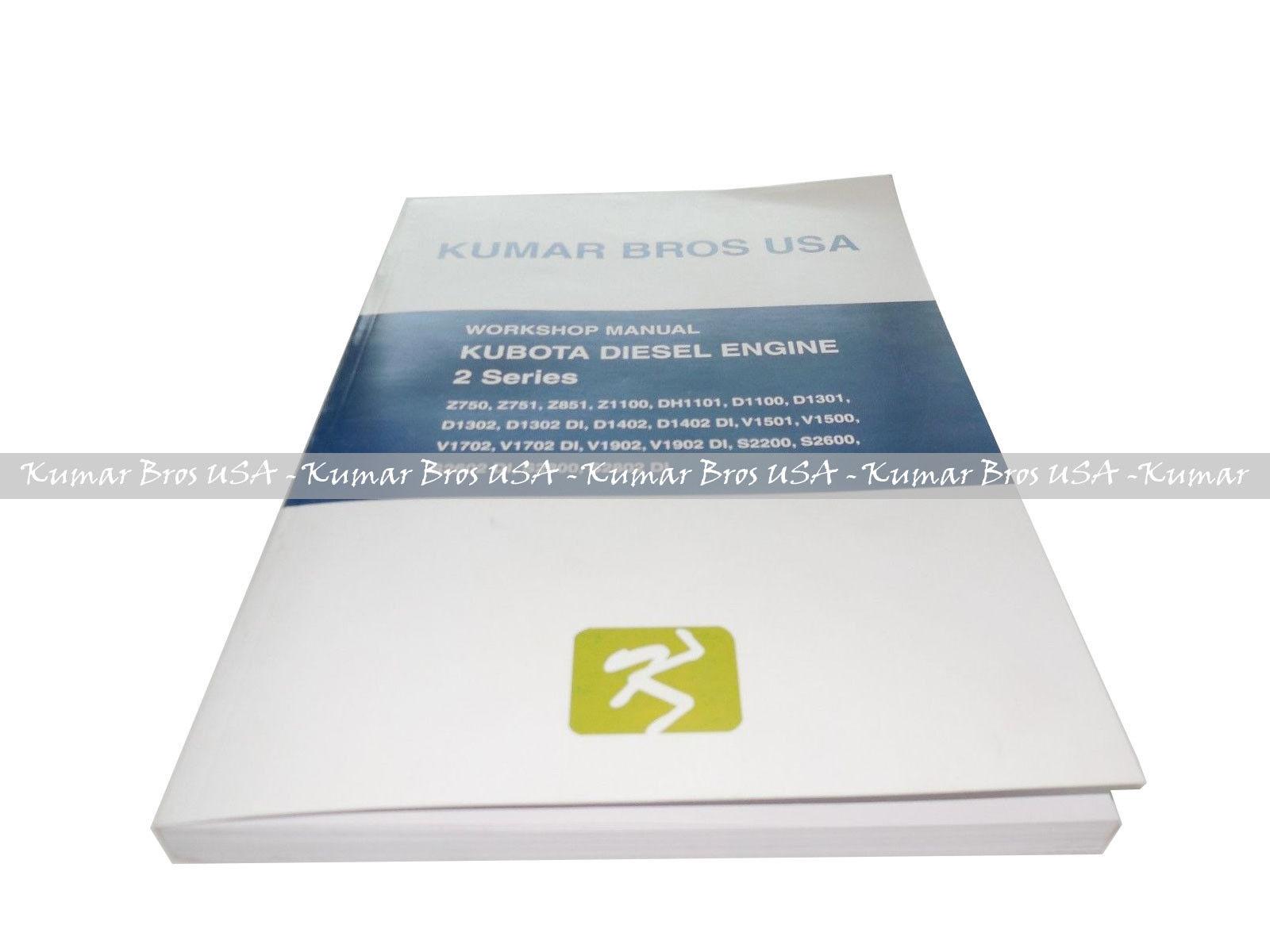 Kubota D1302 Engine Workshop Manual in 3 Languages English French German |  eBay