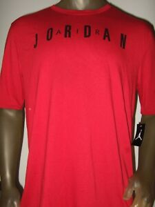 New-Men-039-s-Red-LT-XLT-Nike-Air-Michael-Jordan-Basketball-Sport-Jump-Man-Tee-Shirt