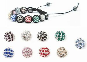 Shamballa-Friendship-Bracelet-Making-Kit-Instructions-Crystal-Disco-Beads-Gift
