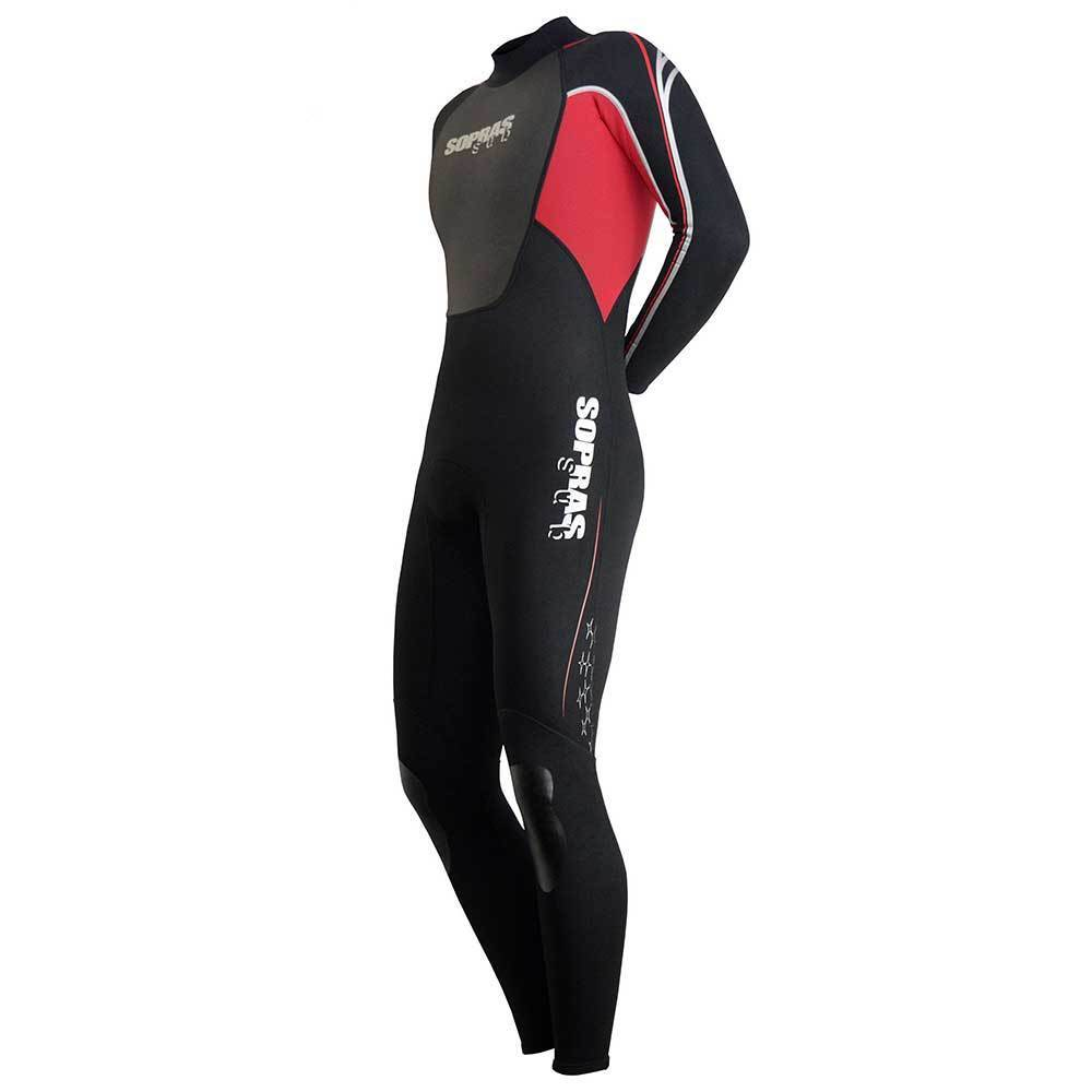 SOPRAS SUB WETSUIT ISIDA MEN 3MM  RED SCUBA DIVING SURFING FREEDIVING  FULL SUIT  100% brand new with original quality