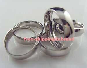 100 wholesale comfort fit inside smooth Stainless steel Rings mens Jewelry lots