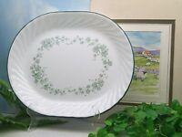 "Corelle Corning Ware  CALLAWAY  Green Ivy  12 1/4""  Oval Serving Platter"