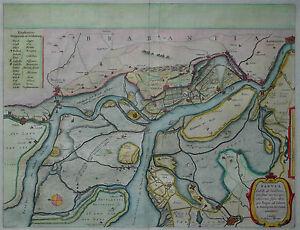 Anvers Zandvliet-ici Faire Table Castelli Ad Sandflitam-willem Janszoon Blaeu 1650-afficher Le Titre D'origine I2fpm8wz-10105702-807607021
