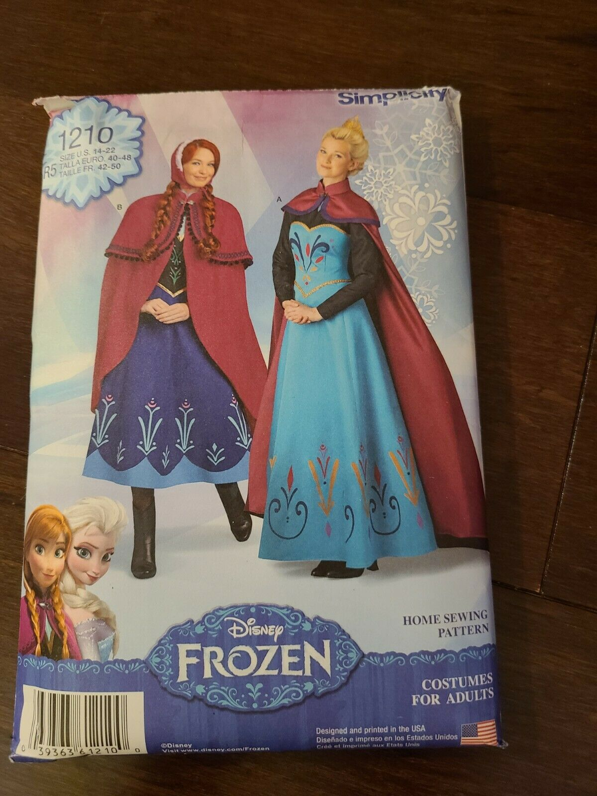 Simplicity Sewing Pattern 1210: Disney Frozen Costumes for Misses White, Paper Size R5 14-16-18-20-22
