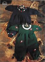 "Sirdar 3630 Vintage Baby Romper Suits Knitting Pattern DK, 16-22"" 0-12 months"