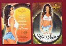 2013 Benchwarmer Thanksgiving 11-28-13 Jaime Hammer Autograph Card # 22