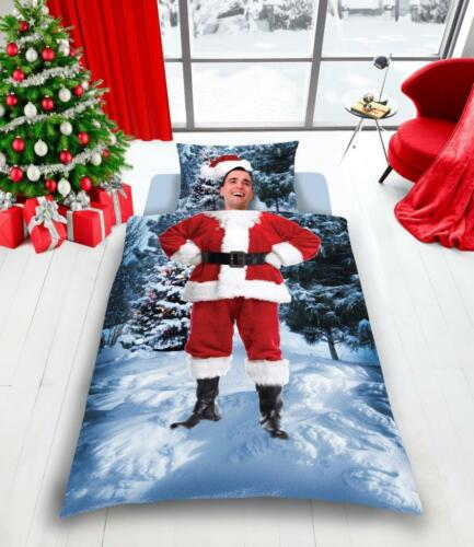Father Christmas /& Pugmas Duvet Cover Bedding Set Pillowcase Single Double King