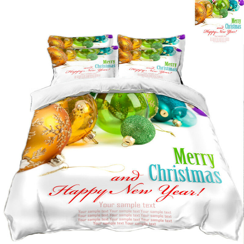 3D Christmas  Xmas 3331 Bed Pillowcases Quilt Duvet Cover Set Single Queen King