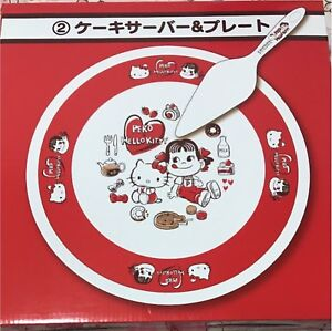 Ichiban-Kuji-Peco-chan-x-Hello-kitty-Cake-server-amp-plate-Sanrio-NEW-F-S-JAPAN