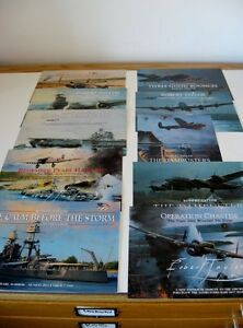 Missions-Lot-Aviation-Art-Advertising-Flyers-Artist-Robert-Taylor-10-Brochures