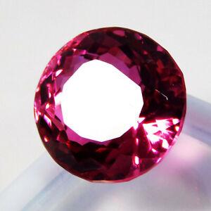 Natural-CERTIFIED-Round-Cut-17-Ct-16-mm-Rubylite-Tourmaline-Loose-Gemstone