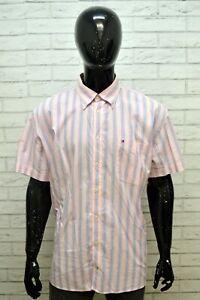 Camicia-Uomo-TOMMY-HILFIGER-Taglia-Forte-Maglia-a-Righe-Polo-Shirt-Men-Big-Size