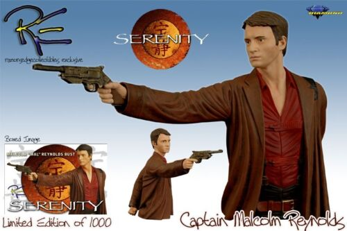 Nathan Fillion Mini Bust Exclusive Serenity Firefly Captain Malcolm Reynolds
